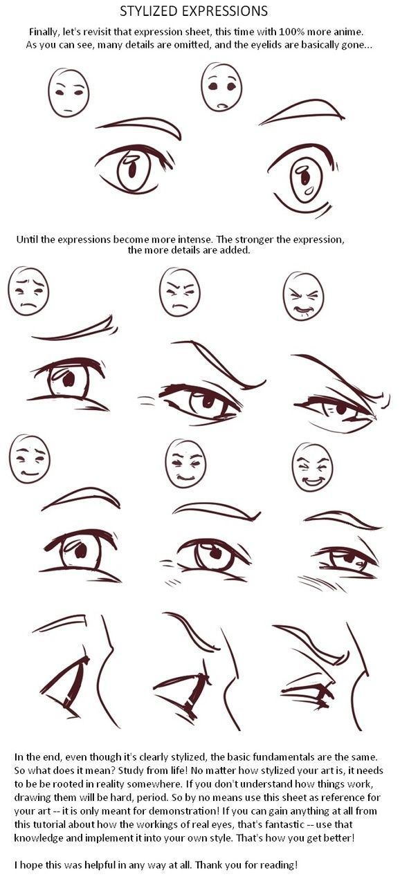 Stylized Expressions Reference Guide Drawing Expressions Eye