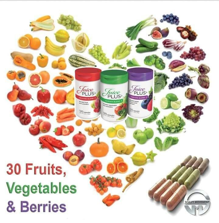 What is JUICE PLUS+ ?? Juice Plus capsules are a whole food product containing 30 different fruit, berries and veggies! Juice Plus in a nutshell is fresh fruit and veg that goes through a juicing process, then a strict dehydration process and finally is