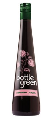 Bottle Green Strawberry Cordial | This delightful blend of succulent strawberries and fragrant elderflowers is perfect for summer punches. You can enjoy it on its own mixed with cold (still or sparkling) water or, if you really need to cool down, drizzle it over vanilla ice-cream.