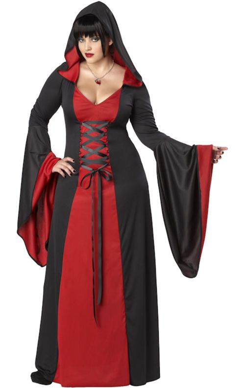 Red long dress plus size zombie