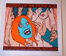 QUEENS OF THE STONE AGE - NASHVILLE  - 2013 - JERMAINE ROGERS -  TOUR POSTER