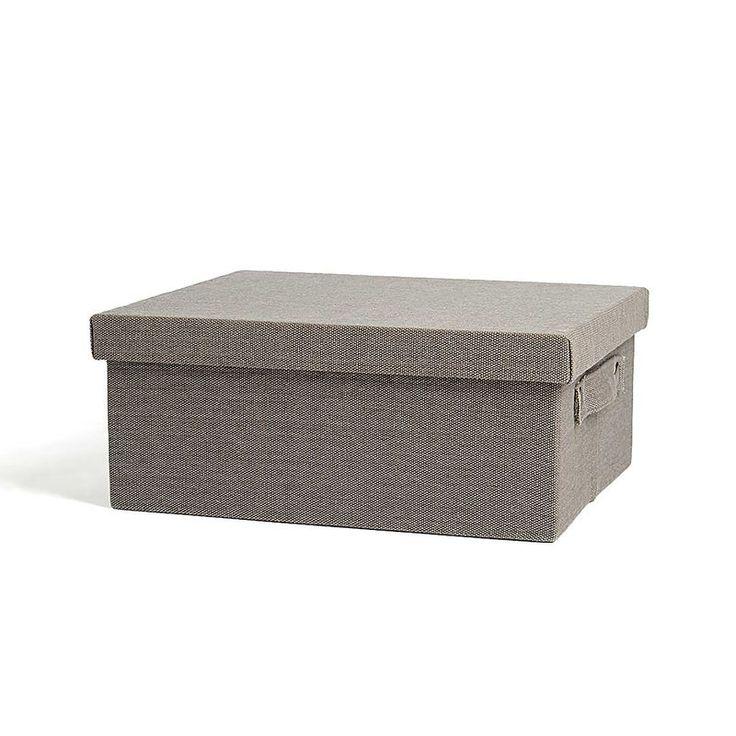 Box mit Deckel grau ca L:46 x B:38 x H:20 cm