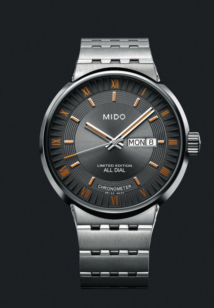 """Für den Uhrenhersteller Mido ist die visionäre Architektur eines Bauwerks ebenso wie die All Dial """"a mark of true design"""". In diesem Jahr feiert die Kollektion All Dial ihr zehnjähriges Jubiläum. Zu diesem Anlass entwickelte Mido ein vom Original inspiriertes Modell in einer limitierten Auflage von 1.000 Stück. Der COSC-zertifizierte Chronometer wird von einem Automatikwerk angetrieben (ETA 2836-2 COSC Chronometer zertifiziert), das äußerste Präzision bietet und alle Wünsche des Liebhabers…"""