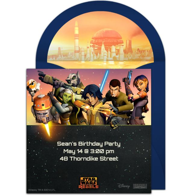 Free Star Wars Rebels Invitations