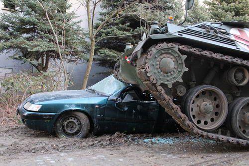 Tank and Car Demolition in Bratislava #stagdo #stagbratislava #tankbratislava