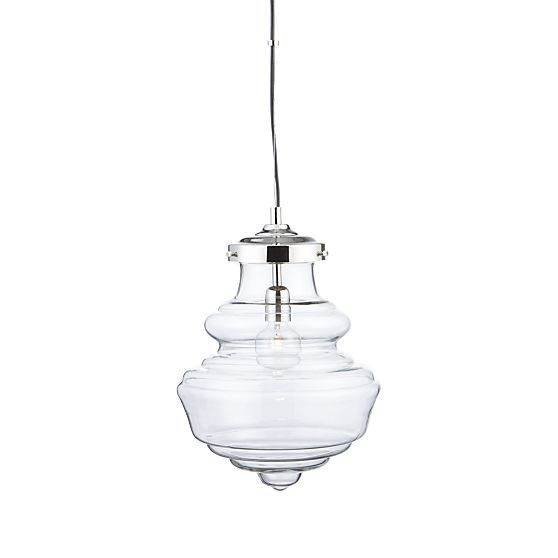 crate and barrel lighting fixtures. blown glass pendant flaunts beautiful retroinspired curves with a clear view of its house lightingpendant lightingcrate and barrelglass crate barrel lighting fixtures l
