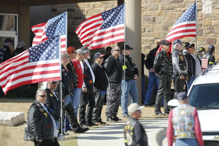 """=""""Patriot Guard Riders were among the mourners at the funeral for Chad Littlefield of Midlothian this afternoon.""""][/caption] Mourners at the funeral of Chad Littlefield said Friday that he and famous Navy SEAL Chris Kyle were """"kindred…"""