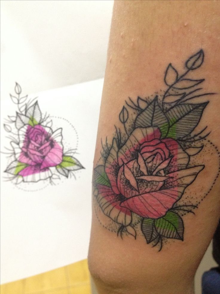 Diseño propio #ink #tattoo #tatuaje #sinfiltro #colortattoo #monster #linework #tatuandoando