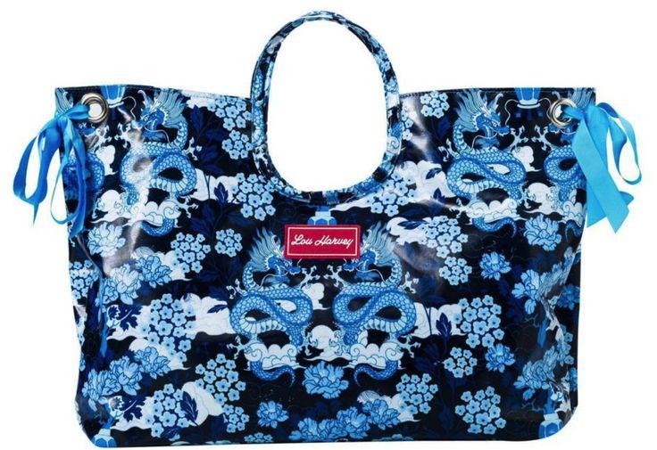 Lou Harvey Dragon Blue Bag