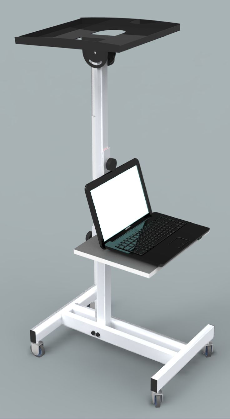 Mobile Projector Stand with Notebook shelf. Height adjustable