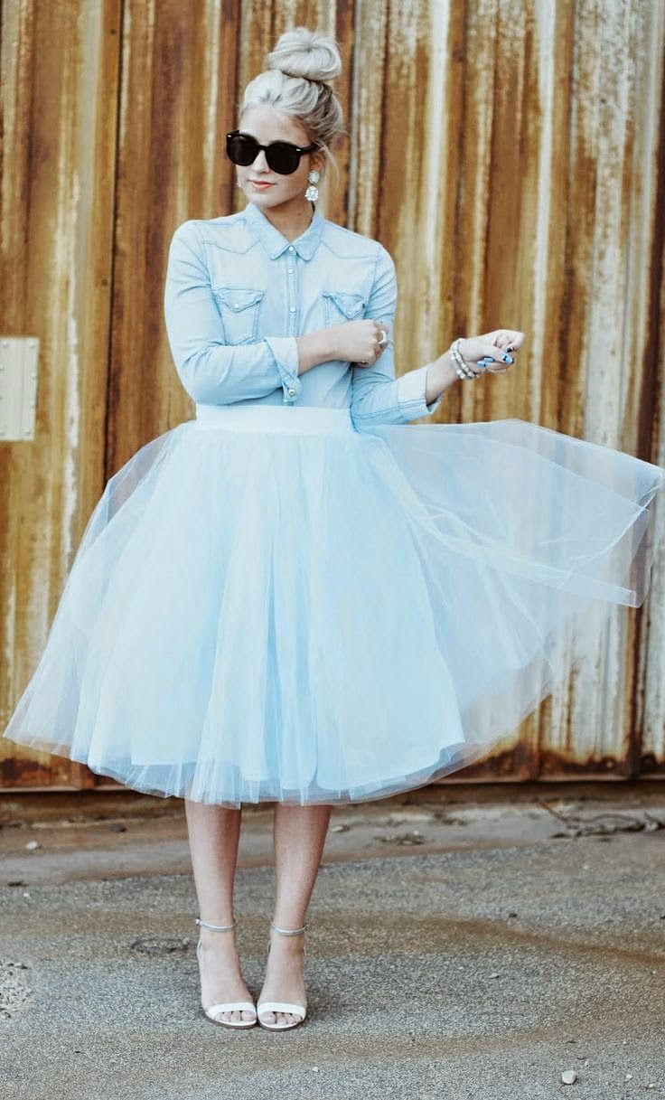Tulle & Chambray