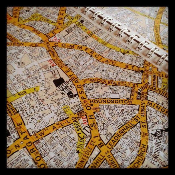 Cartina Stradale Londra.In Fase Creativa Con Una Vecchia Cartina Stradale Di Londra Chissa Cosa Ne Verra Fuori