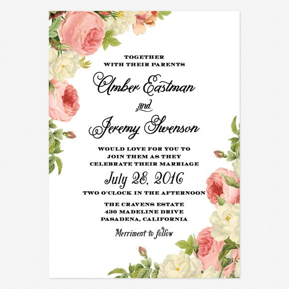 Alluring Florals Wedding Invitations www.lovevsdesign.com/ #1. Totally Love This**** Mrs. Gail Robison-Nichols