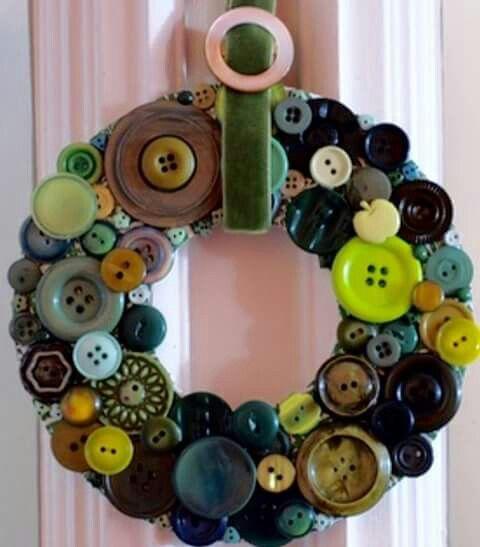 Guirlanda coberta de botões