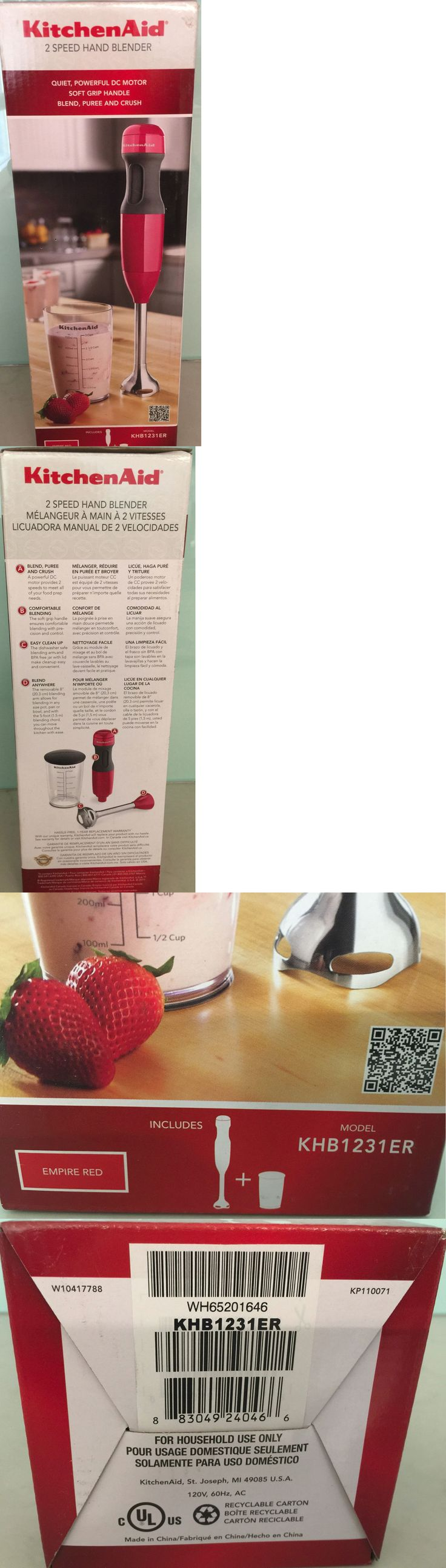 Blenders Handheld 133703: New Sealed Kitchenaid Khb1231er 2-Speed Hand Blender Empire Red Electric Mixer -> BUY IT NOW ONLY: $32.44 on eBay!