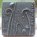 Fossils from Everyday Life: Plaster Cast Plant Tiles by Rachel Dein - I've got to either get some of these or learn how to do this.