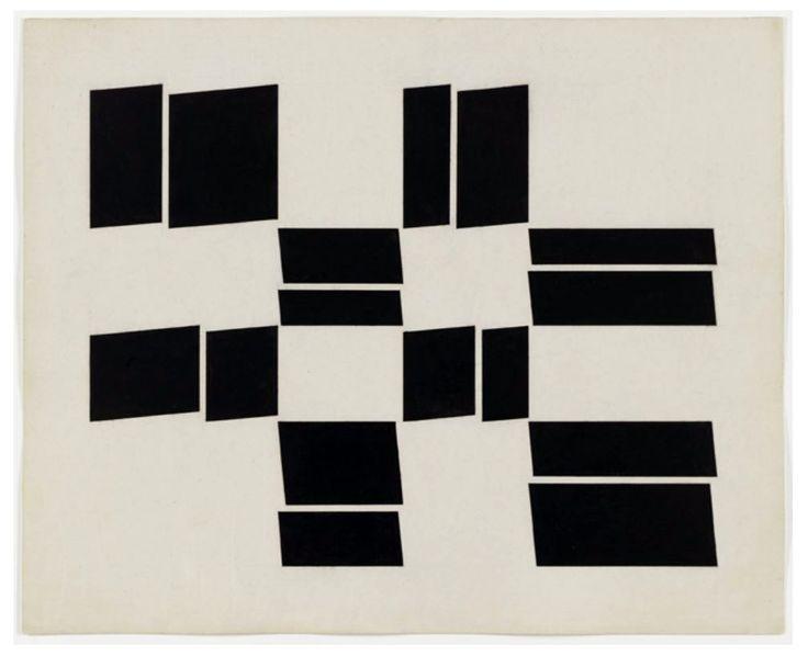 """Helio Oiticica, """"Metaesquema 286"""" 1958, Gouache on cardboard #art #Helio Oiticica #konkrete kunst #arte concreta"""