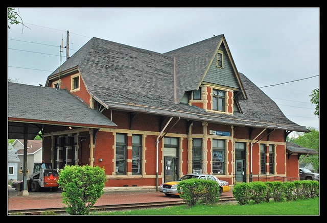 Winona, Minnesota depot built by the  Chicago, Milwaukee, St. Paul & Pacific (Milwaukee Road) in 1888 in response to C&NW's large three story station in downtown Winona. The new station was smaller, but it had many perks including a baggage room attached by a roof to protect passengers. Amtrak's daily Empire Builder, originally owned by Great Northern which also had a station in Winona, uses the depot now. It was listed on the National Register of Historic Places in 2013, NRHP Ref #…