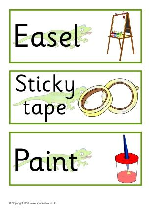 Gecko-Themed Classroom Signs and Labels Pack (SB11604) - SparkleBox
