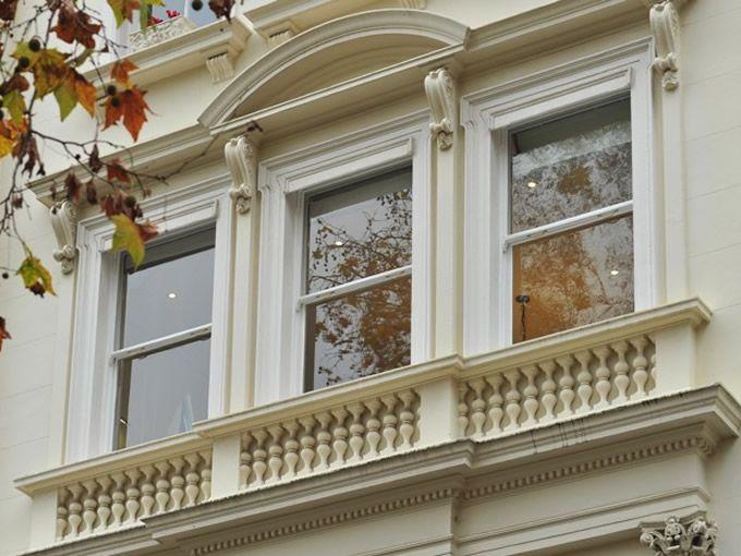 Timber sash windows in London