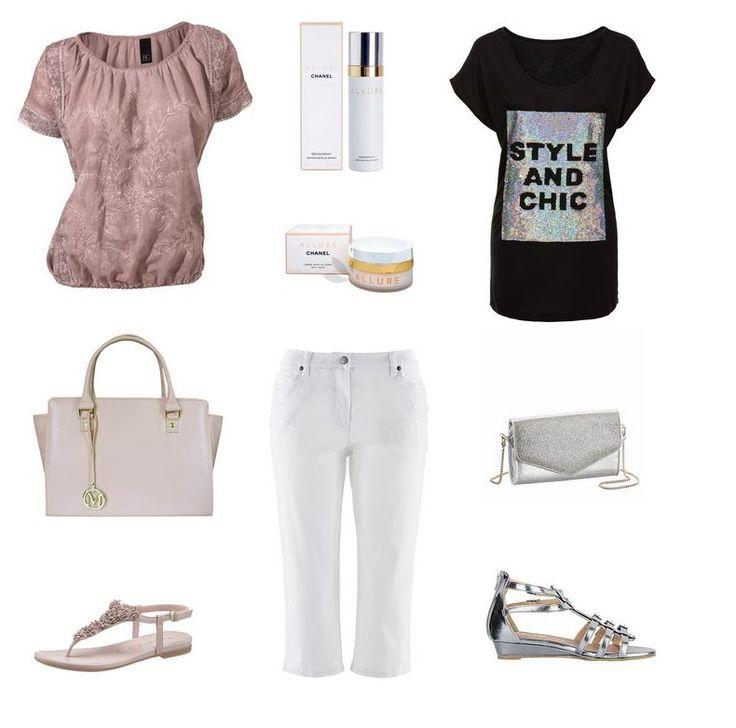 Romantické letné oblečenie plus size - verzus ligotavé oblečenie pre moletky - biele capri nohavice pre moletky