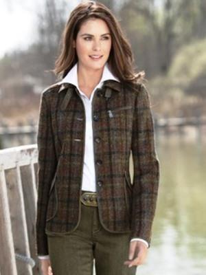 Женский твидовый пиджак двадцатых годов