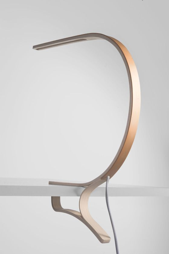 'Optimist' lamp by Cosima Geyer  (great simple shape, I like how it clips on to the desk/multi-use feature)