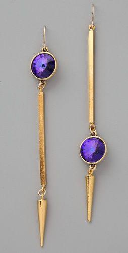 Gemma Redux -- Asymmetrical Tanzanite Earrings