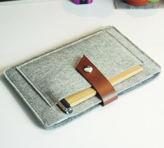 Felt iPad mini case iPad mini cover iPad mini Sleeve Handmade Wool Felt iPad Mini- with Pocket-grey 303 on Etsy, $19.00