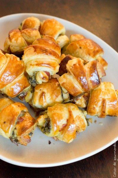 Croissants spécial apéritifs au pesto & jambon cru