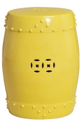 Charming Yellow Ceramic Stool