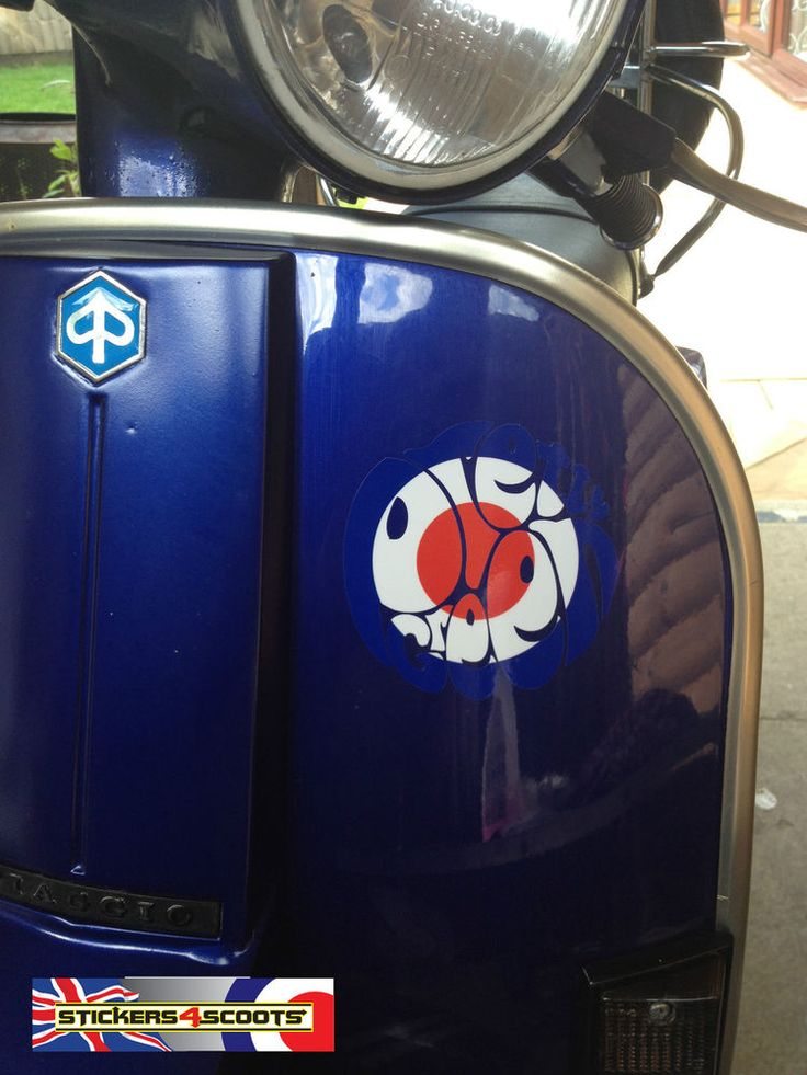 Pretty green sticker decal blue mod target vespa lambretta legshield 100mm pg8 in vehicle parts
