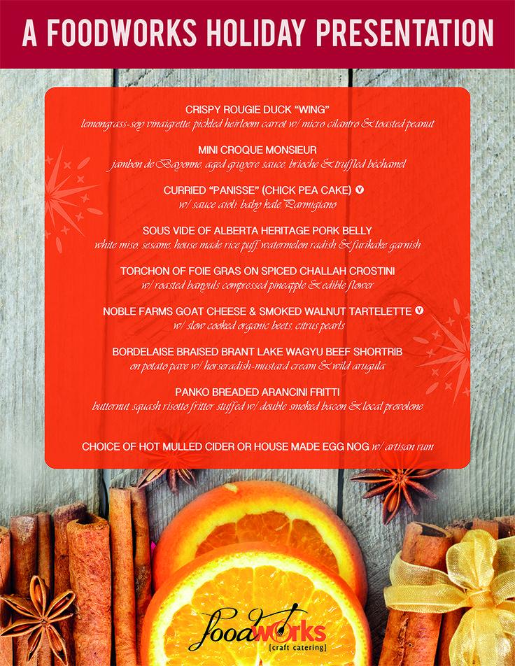 Food Works Craft Catering Menu Poster Design