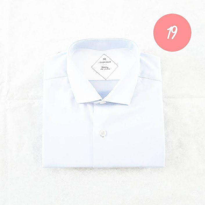 CHRISTMAS GIFT #19 Une chemise sur mesure à personnaliser pour être sûre de lui faire plaisir #ideecadeau #giftidea #cadeaudenoel #christmasgift #lastminutegift #shirt #chemise #surmesure #lechemiseur #alinaerium