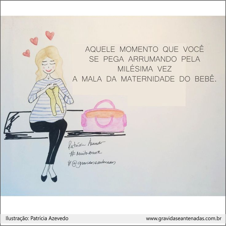 Quem aii arruma mil vezes a mala e as coisas do bebê ? #muitoamor    www.gravidaseantenadas.com.br / SNAP : g.antenadas