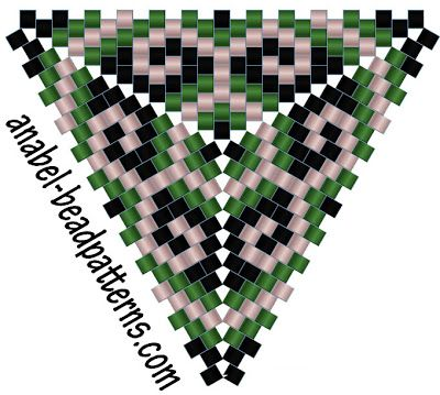 Delta - Pendientes - patrón de triángulo peyote gratuito