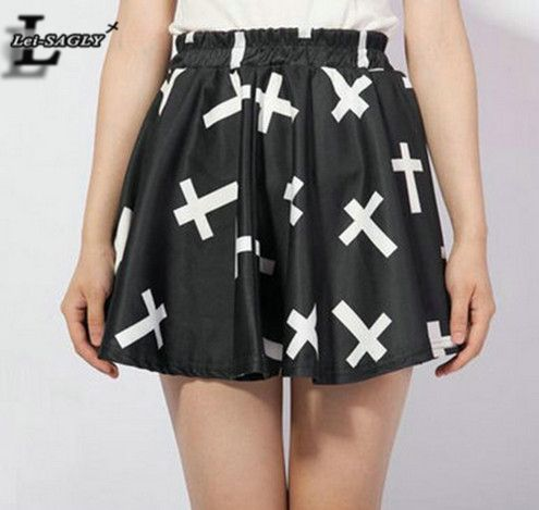 Find More Skirts Information about 2016 Summer Style Black Fashion Pleated Cross Print Skirt Harajuku Women Sexy Kawaii Saia Casual Sports Slim Kilts Apparel X 023,High Quality kilt skirt,China kilt pins Suppliers, Cheap kilt picture from Lei-SAGLY on Aliexpress.com