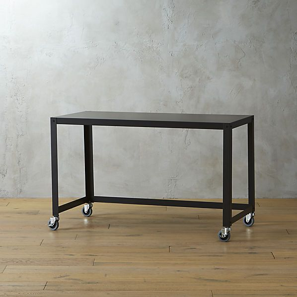 "go-cart carbon rolling desk; Width: 47.75"" Depth: 23.75"" Height: 29.5"