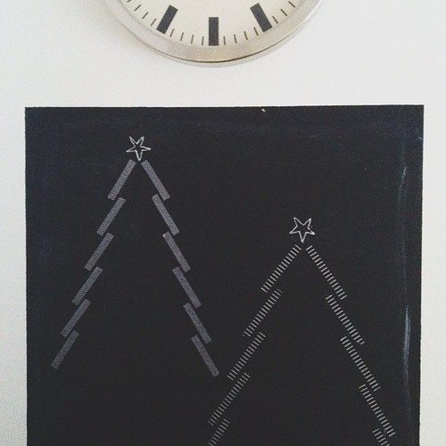 °washi tape christmas trees // modernekohome°