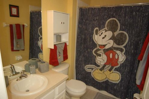 78 ideas about mickey mouse curtains on pinterest for Mickey mouse bathroom ideas