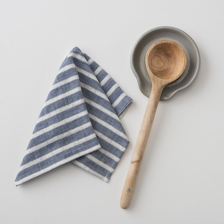 Gray Stoneware Spoon Rest | Handcrafted using traditional Pennsylvania Dutch pottery techniques, this salt-glazed stoneware spoon rest adds functionality and charm to any well-loved kitchen. A heritage artisan piece made by Eldreth Pottery.