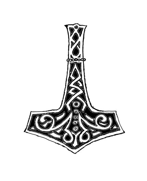 thor s hammer tattoo drawing  mjolnir tattoo design