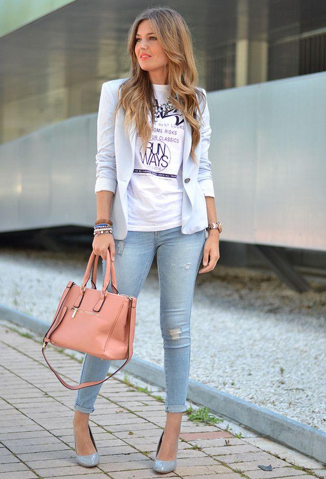 Zara  Blazers, Zara  Jeans and Jollychic  Bolsas