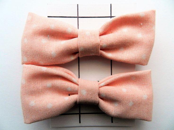 Haarelastiekjes  Strikjes  Haarstrikjes  Roze Strikje met Witte Stipjes  Haaraccessoires voor Meisjes  Elastiekjes met Strik door VanCaatNL op Etsy