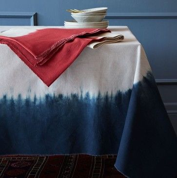 dip-dye tablecloth - contemporary - table linens - tafellinnen - tafelkleed