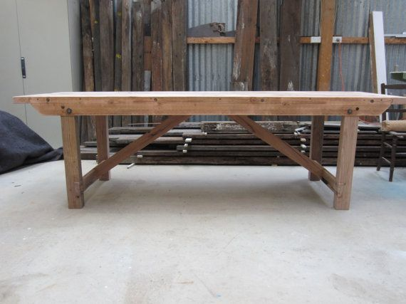 Vintage Industrial Workbench Dining / Table by SilkwoodFurniture