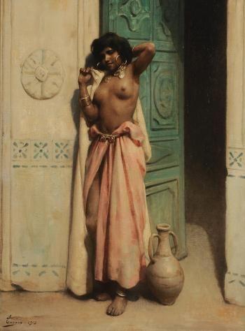 :::: ✿⊱╮☼ ☾ PINTEREST.COM christiancross ☀❤•♥•* :::: Adrien Henri Tanoux - Beauté du harem (1913)
