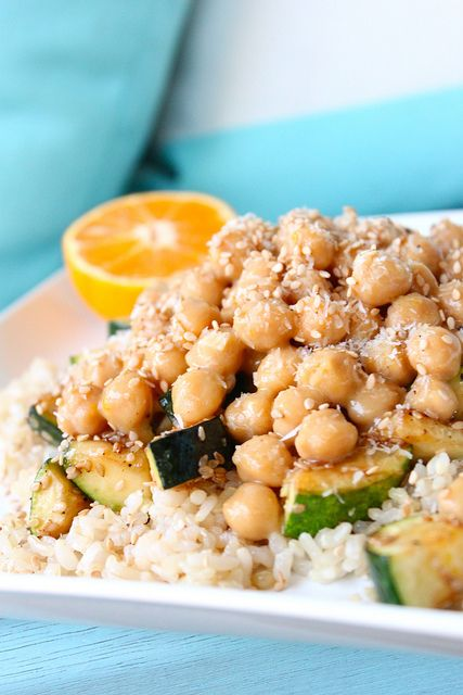 Some really good healthy recipes here...like Orange glazed Chickpeas with Sesame Grilled Zucchini!!!