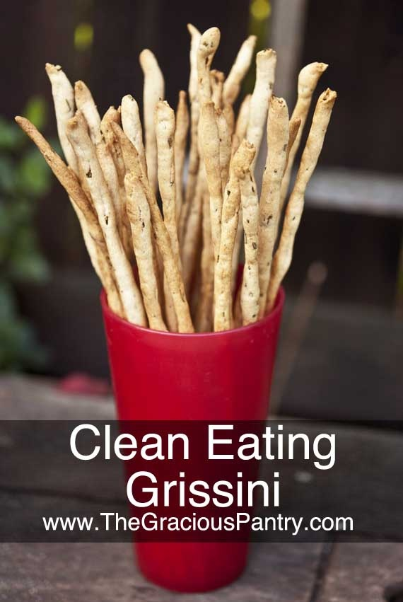Clean Eating Rosemary Grissini