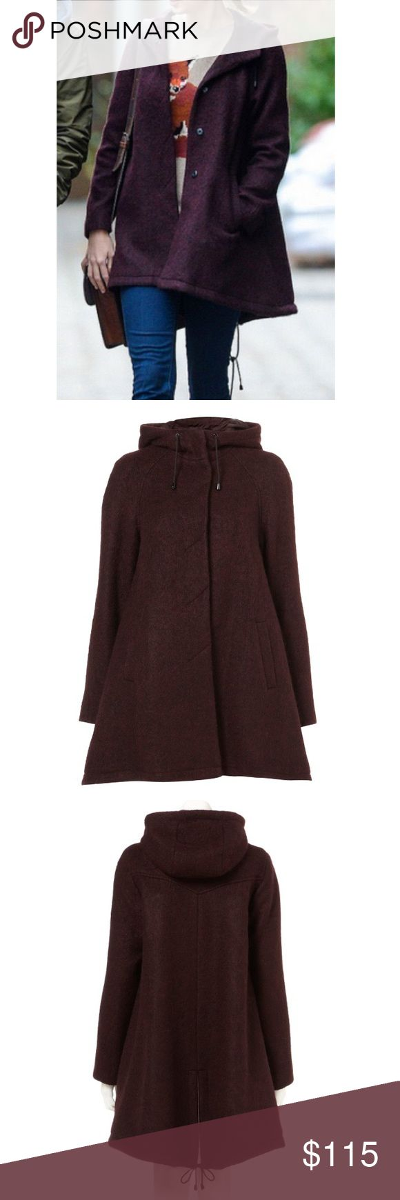 Topshop Burgundy Tall Textured Parka Coat New without tags. Purchased from Topshop in London. Never got to wear it since I live in the gold old state of Arizona. Super warm and fits the body beautifully! Size is US 8/UK 12. Color is Burgundy. Urban Outfitters Jackets & Coats